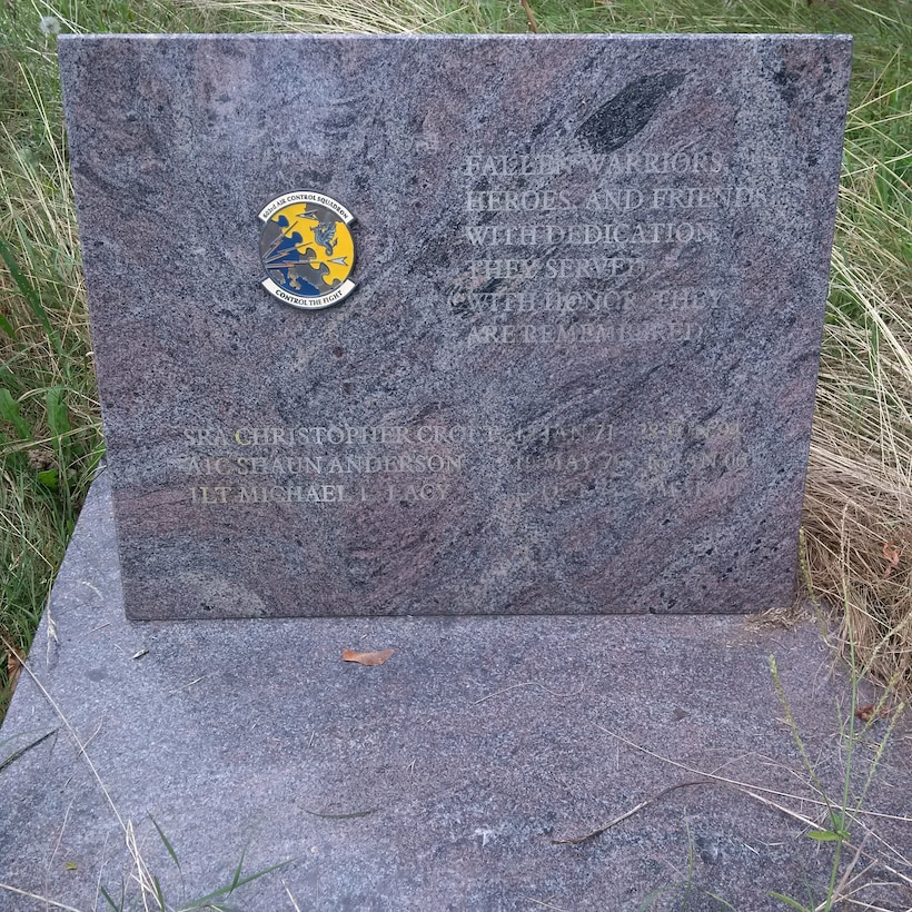 The original 603rd Air Control Squadron Fallen Scorpion Memorial at Aviano Air Base, Italy before removal for restoration. The memorial will be dedicated at the National Museum of the U.S. Air Force on Aug. 22, 2019.