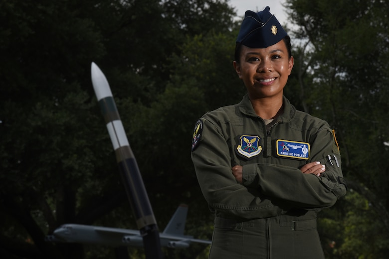 Maj. Kristine Poblete, U.S. Air Force Global Strike Commander's Action Group Legislative Liasion, was awarded the Air Force Diversity and Inclusion Recognition Program award for her contribution in creating a diverse work center at Barksdale Air Force Base, La.