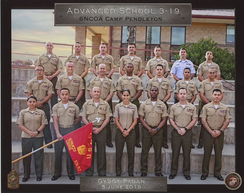 Master Sgt. Stephen Malanaphy Jr., 439th Mission Support Group training manager, recently graduated from the Marine Corps' version of a Senior Noncommissioned Officer Academy, at Camp Pendleton Calif. (Courtesy photo)