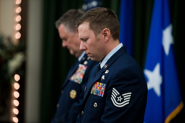 Technical Sgt. Michael Perolio was awarded the Silver Star medal at Joint Base San Antonio-Lackland on July 18.