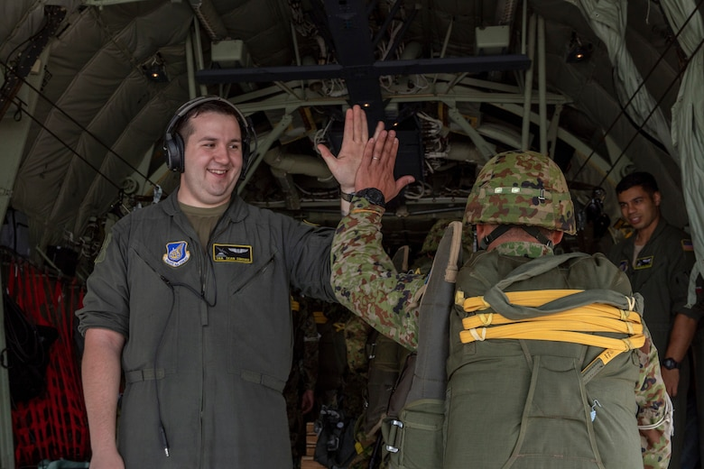 U.S. Air Force Senior Airman Sean Simard, 36th Airlift Squadron loadmaster