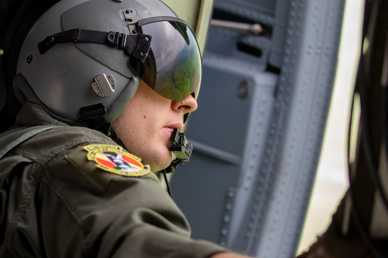 U.S. Air Force Master Sgt. James Huntsman, 36th Airlift Squadron loadmaster