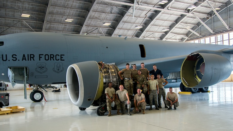 6th Maintenance Group maintainers pause for a photo, July 1, 2019, MacDill Air Force Base, Fla.