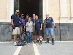 DLA Distribution Sigonella, Italy, Military Personnel Conduct COMREL Event at Historical Church in Presna