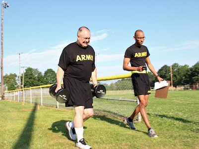 316th ESC Soldiers Train for Army Combat Fitness Test