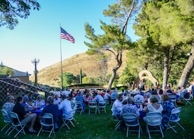 Members of the Edwards Air Force Base Civilian-Military Support Group attend their annual BBQ dinner at the Hacienda Lane Ranch in Palmdale, Calif., July 18. (U.S. Air Force photo by Giancarlo Casem)