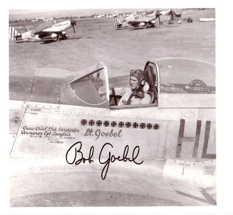 The 308th fighter squadron had a part in preparing for the launch of Operation DRAGOON and providing escort to paratroops. Lt. Bob Goebel, pictured here, flew as a flight leader during the missions, recording his experiences in his memoir, Mustang Ace.