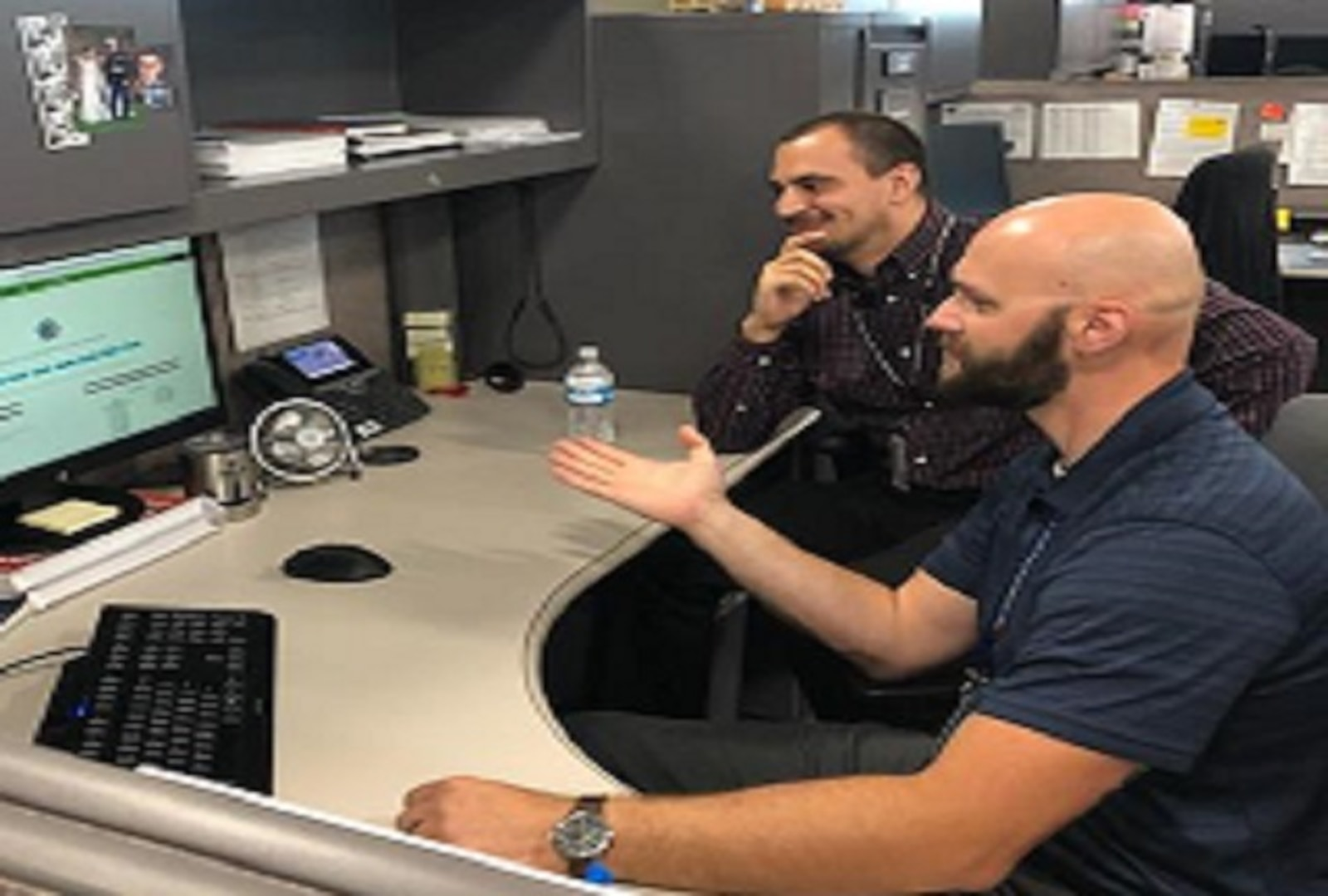 Jeff Day and Chris Rodriguez review the CAS/Order Fulfillment SharePoint Website they created which provided easily navigational features and saved the customer time.