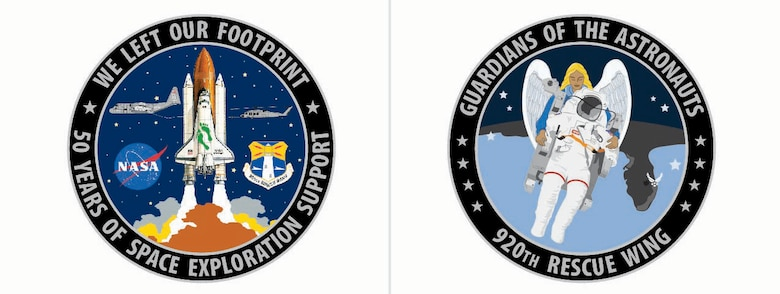 This coin was created in honor of Reserve Citizen Airmen who have been there since the beginning of human spaceflight. Air Force Reservists have flown missions to ensure astronauts would be saved if they had to bail out from a shuttle launch or if an anomaly happened on the pad or over water. Air Force Pararescuemen have gone to the aid of past astronauts throughout history and are set to serve the future of human spaceflight.