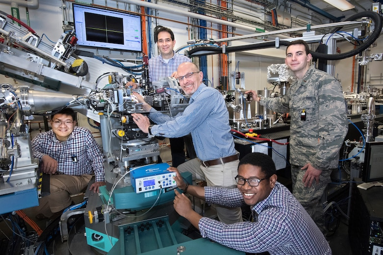 The Polymer Matrix Composites Materials and Processing research team used beamline instrumentation at Brookhaven National Laboratory to capture real-time imaging data of 3D-printed composite inks that could be used to produce aircraft structures in the future. (U.S. Air Force Photo/Hilmar Koerner)
