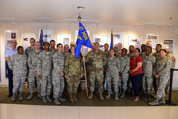 The 47th Medical Group reorganized its squadrons, the 47th Medical Operations Squadron and the 47th Medical Support Squadron, as part of the Air Force Medical Service Medical Squadron reform, on July 15, 2019 at Laughlin Air Force Base, Texas. The 47th MDG will remain as such, but the 47th MDSS will become the 47th Healthcare Operations Squadron, and the 47th MDOS will transition to the 47th Operational Medical Readiness Squadron. (U.S. Air Force illustration by Senior Airman Anne McCready)