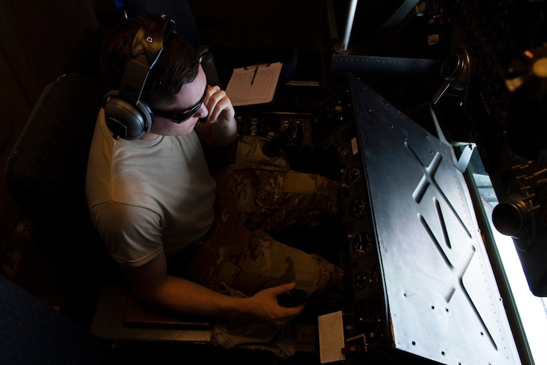 U.S. Air Force Senior Airman William Hulse, 2nd Air Refueling Squadron, Joint Base McGuire-Dix-Lakehurst, New Jersey, prepares to fuel a USAF F-22 Raptor July 14, over the Pacific Ocean near the coast of Brisbane, Australia, in support of Exercise Talisman Sabre 19. The Raptor was one of several aircraft used during TS19,  alongside other USAF and RAAF airborne warning and control system aircraft, refuelers, tankers and bombers. (U.S. Air Force photo by Senior Airman Elora J. Martinez)