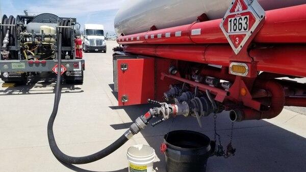 fuel truck loading fuel