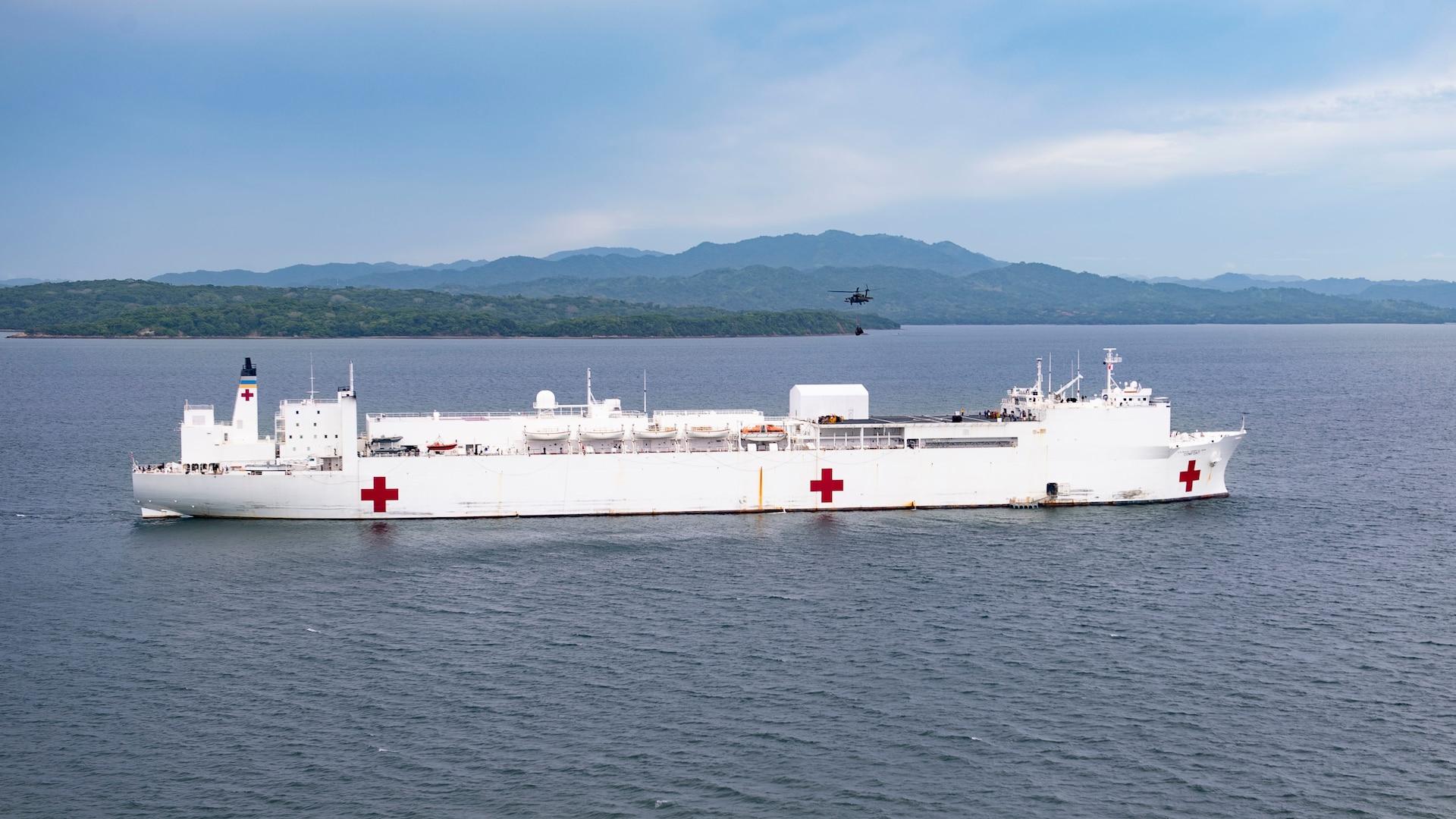 USNS Comfort off the coast of Costa Rica