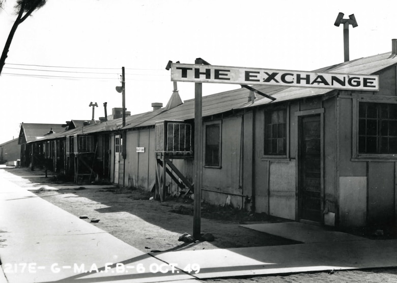 The Base Exchange as it appeared at Muroc Air Force Base in October, 1949. (U.S. Air Force photo)
