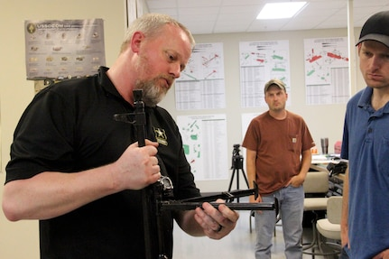 Naval Surface Warfare Center, Crane Division (NSWC Crane) hosted Expeditionary professionals for its first Light Weapon Design Course led by Cranfield University, a postgraduate university based in the United Kingdom that specializes in defense technology.