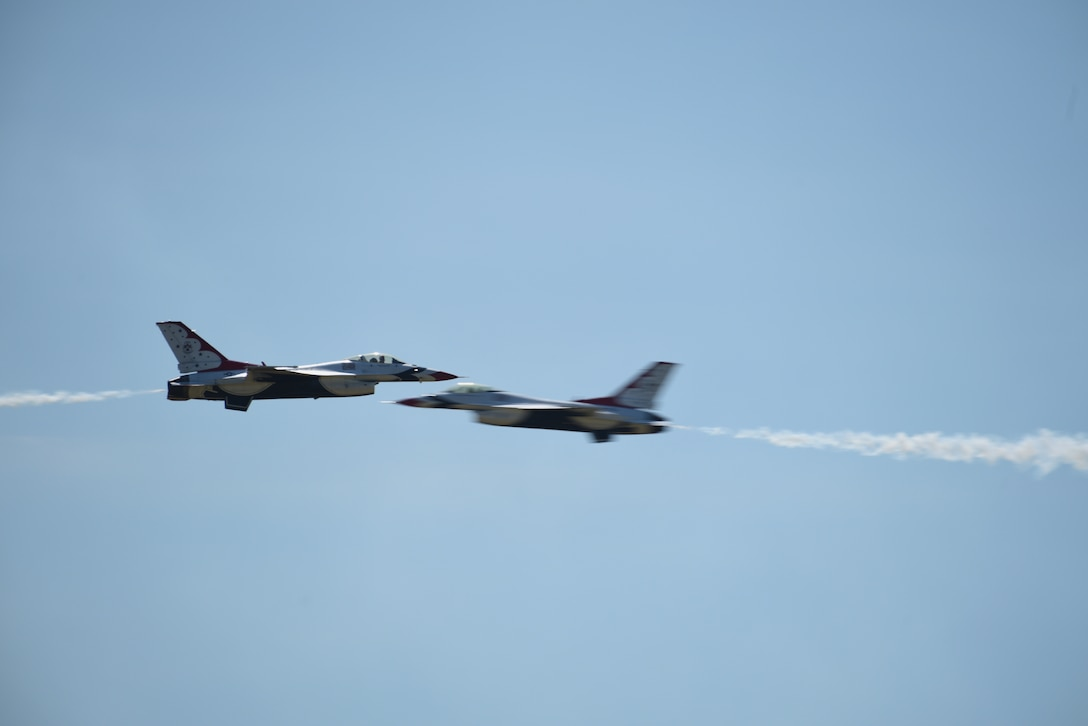 The U.S. Air Force Thunderbirds zoomed back into Cheyenne Frontier Days for their annual air show, July 24, 2019.
