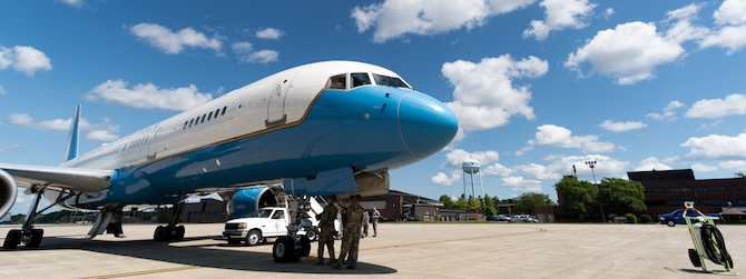A U.S. Air Force C-32A from the 89th Airlift Wing arrived at Youngstown Air Reserve Station, July 23, 2019.
