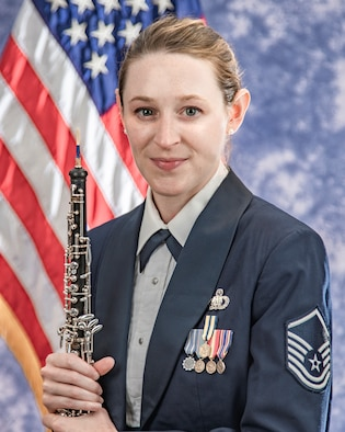 Official photo of Master Sgt. Kaitlin Hartley, oboist with The United States Air Force Band, Joint Base Anacostia-Bolling, Washington, D.C.