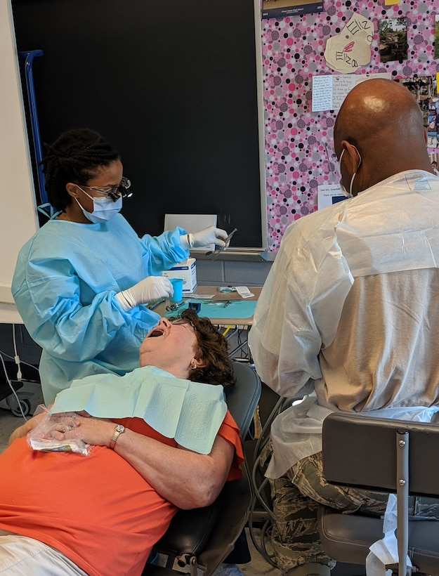 Army Reserve Medical Command Soldiers provide care in local community