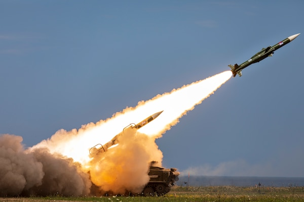2K12 Kub mobile surface-to-air missile system fires during multinational live-fire training exercise Shabla 19, in Shabla, Bulgaria, June 12, 2019 (U.S. Army/Thomas Mort)