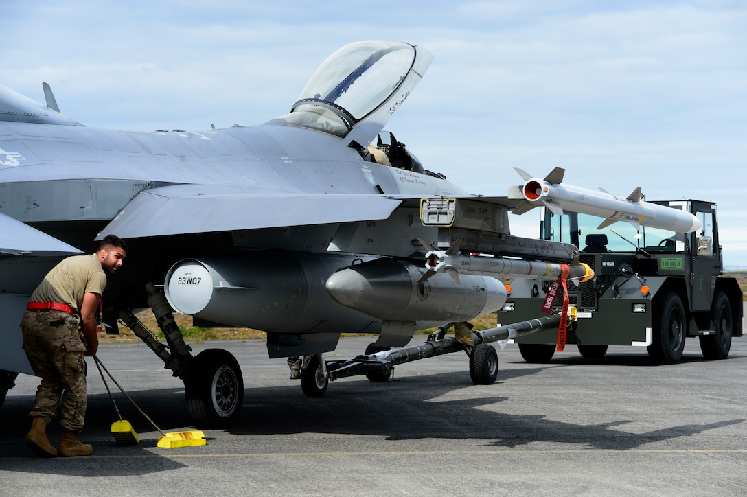 F-16 Fighting Falcons and over 100 Airmen from the 480 Fighter Squadron, 52nd Fighter Wing, are in Iceland in support of NATO alliance commitments. The U.S. has been participating in this Iceland Air Surveillance mission since 2008.