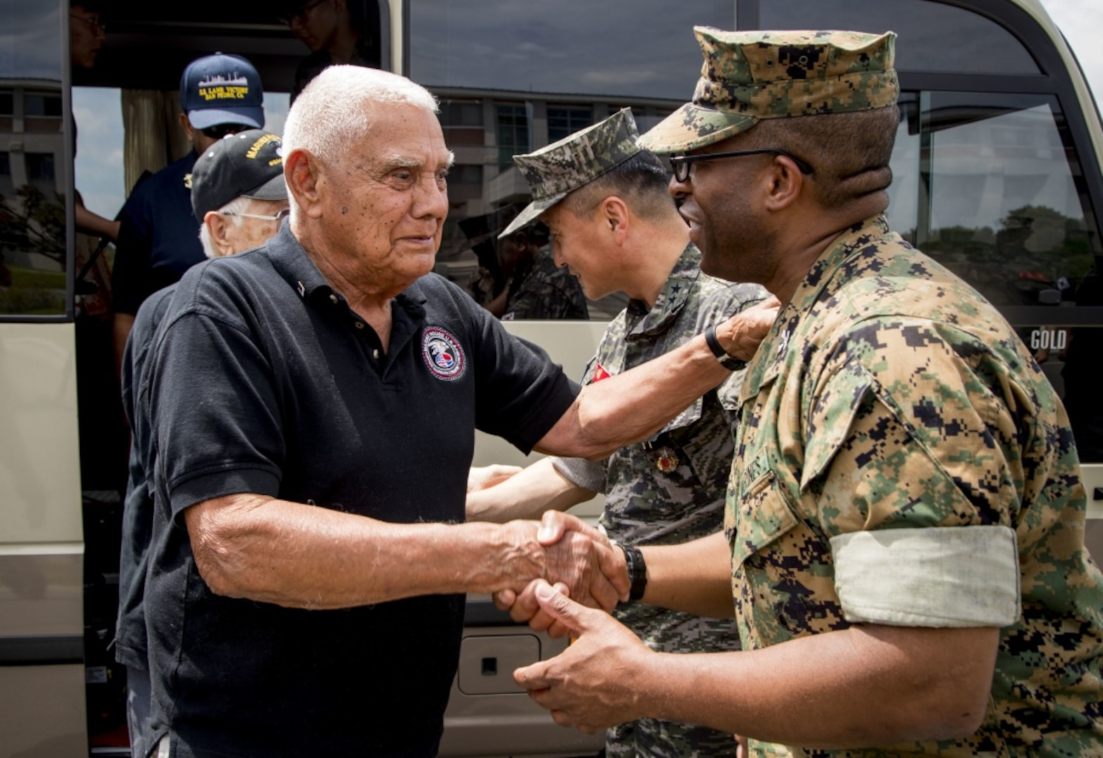 U.S. Veterans Visit Camp Mujuk and 1st Republic of Korea Marine Division Headquarters