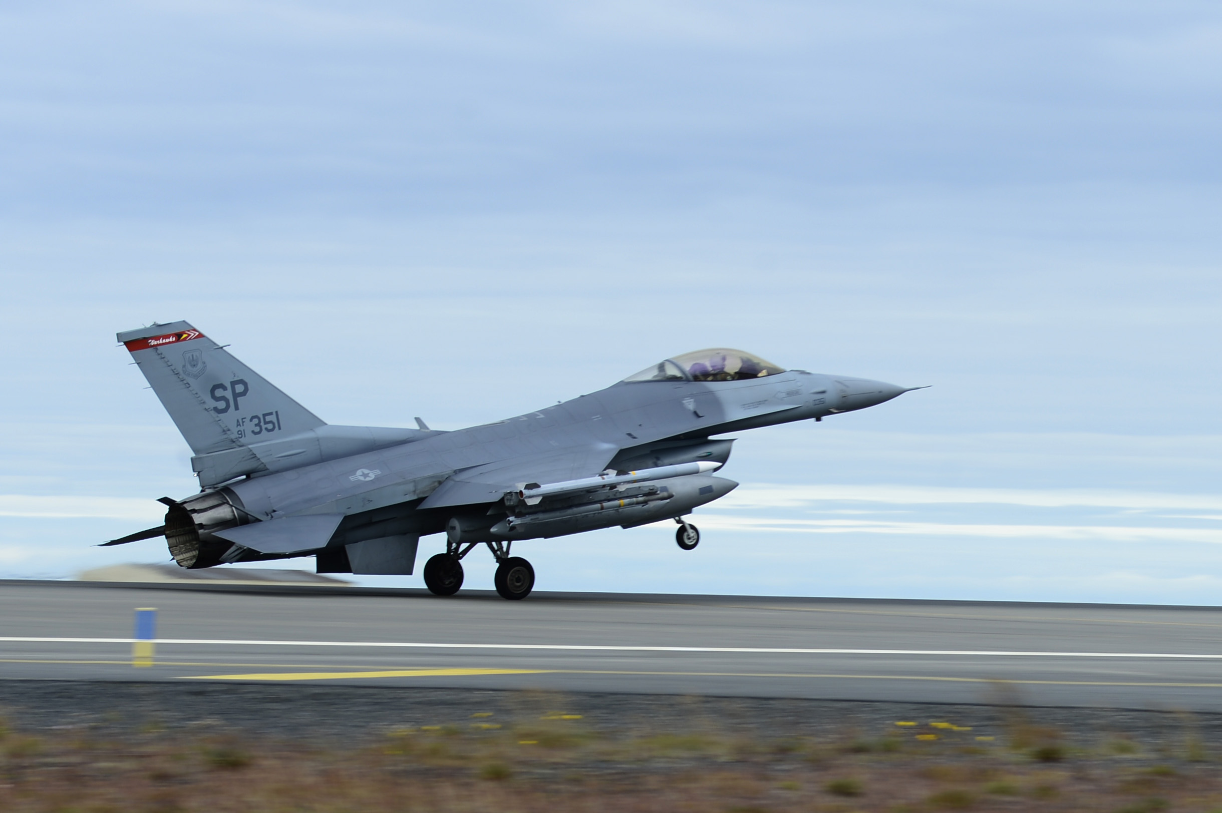 52nd Fighter Wing Conducts Scramble Training