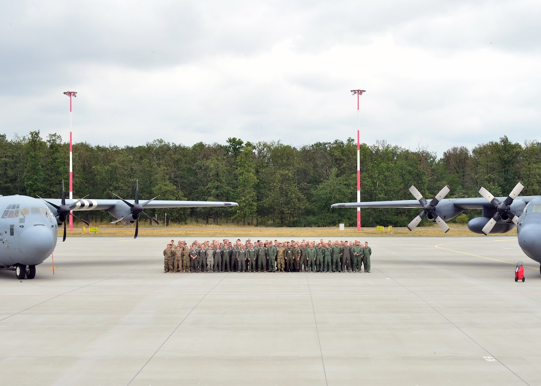 U.S. Airmen assigned to Ramstein Air Base, Germany, and members of the Polish military conclude Aviation Rotation 19-3 at Powidz Air Base, Poland, July 23, 2019. During the bilateral training exercise, U.S. and Poland worked on aerial operations and tactics to improve joint readiness. (U.S. Air Force photo by Staff Sgt. Jimmie D. Pike)
