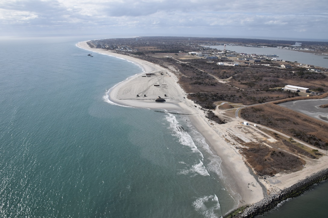 In 2017, USACE completed periodic nourishment of the Cape May to Lower Township project (Photo from February of 2017).