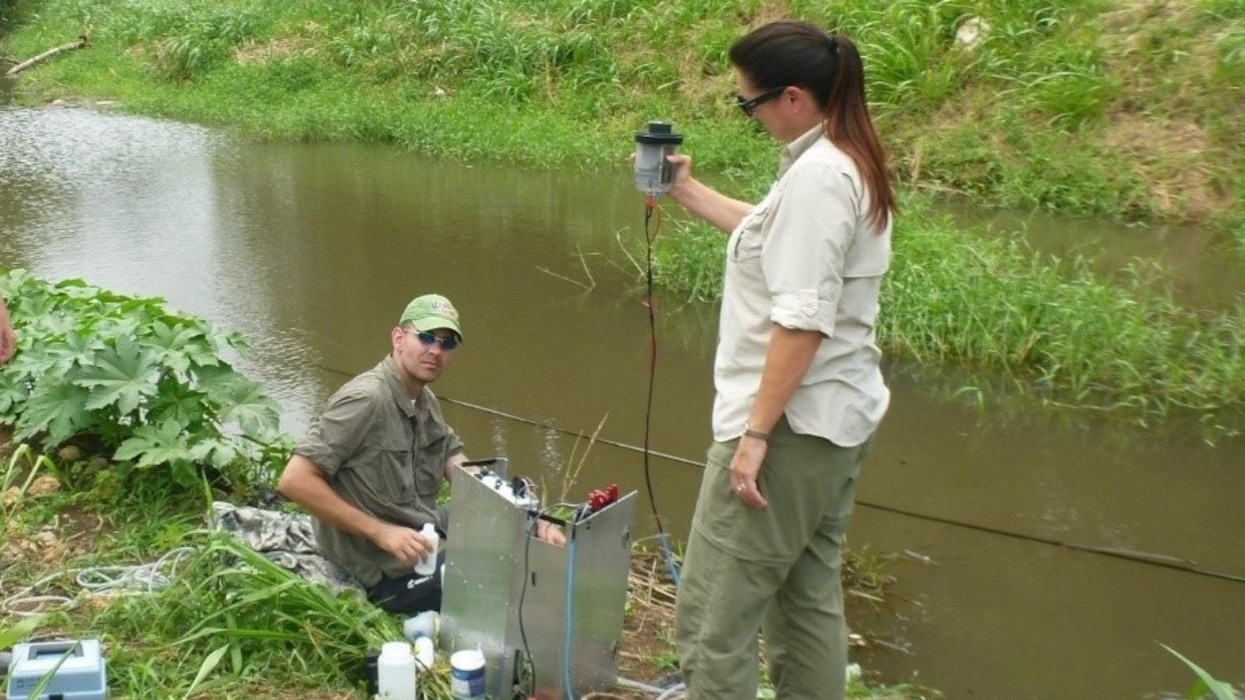 Geospatial Research Laboratory team receives water quality patent