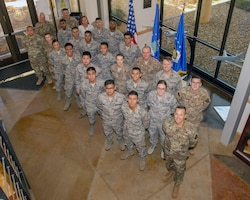 The 349th Air Mobility Wing welcomes newcomers during the UTA.