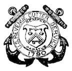 A photo of the seal of the Revenue Cutter Service