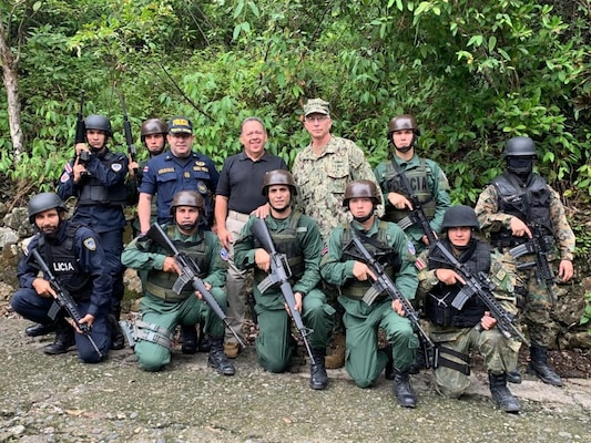 A group photo of military personnel.
