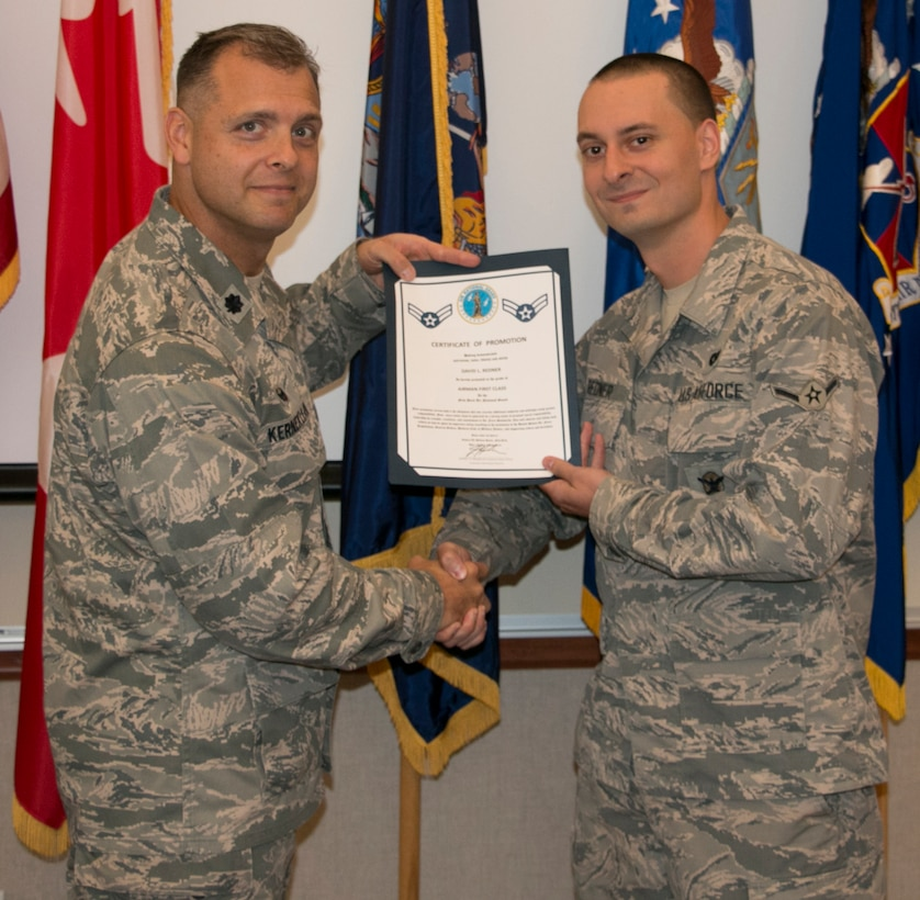 Redner Promoted to Airman 1st Class