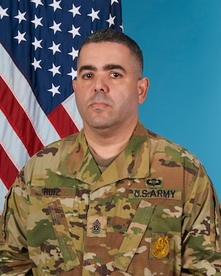 the photo is of Command Sgt. Maj. Jose Ruiz the Jacksonville Recruiting Battalion Command Sergeant Major