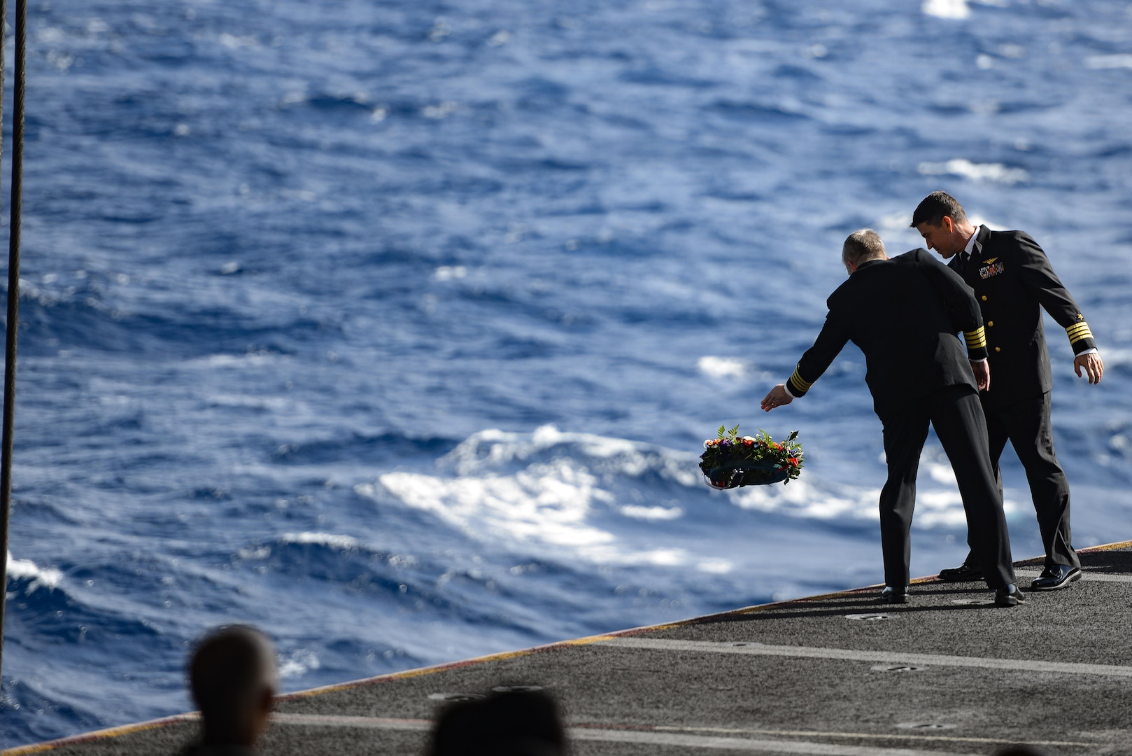 USS Ronald Reagan Holds Coral Sea Remembrance Ceremony