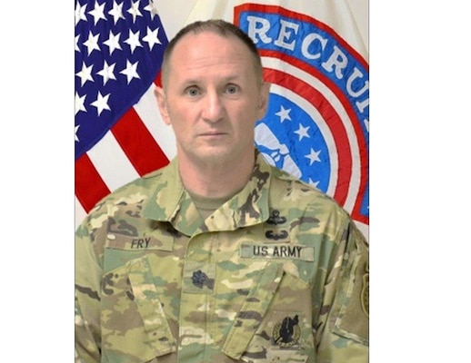 Command photo of Tampa Recruiting Battalion Commander, Lt. Col. Terry W. Fry