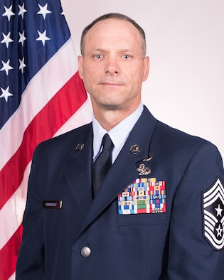 Official Air Force photo for Chief Master Sgt. Donald E. Frederick