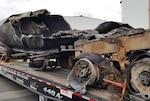 burned fuel truck
