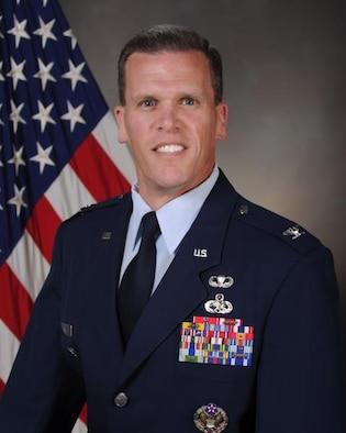 Colonel Mathew J. Powell, commander 354th Maintenance Group