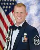 Official photo of Master Sergeant Lucas Brandon, trumpeter in the Airmen of Note, The United States Air Force Band, Washington D.C.