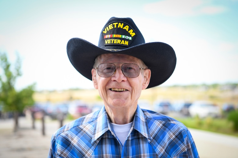 Ron McGregor, retired Air Force veteran, attends Military Retiree Appreciation Day, July 27, 2019, Buckley Air Force Base, Colo. McGregor served 26 years in the Air Force as a targeting officer in the Vietnam War. (U.S. Air Force photo by Airman 1st Class Michael D. Mathews)