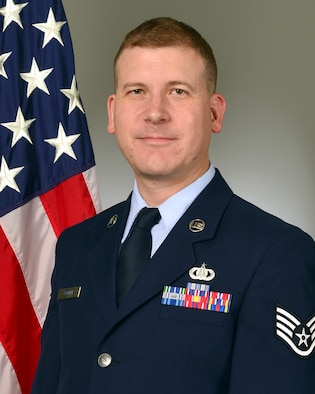 Official photo of SSgt Adam Walker. member of the United States Air Force Band of the Pacific-Hawaii, Joint Base Pearl Harbor-Hickam, Hawaii.