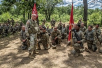 Lt. Gen. Charles D. Luckey speaks with Army Reserve Soldiers