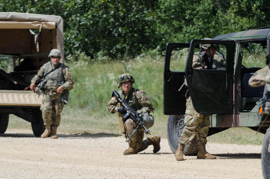 Quartermaster Soldiers evaluate and Evacuate a Casualty