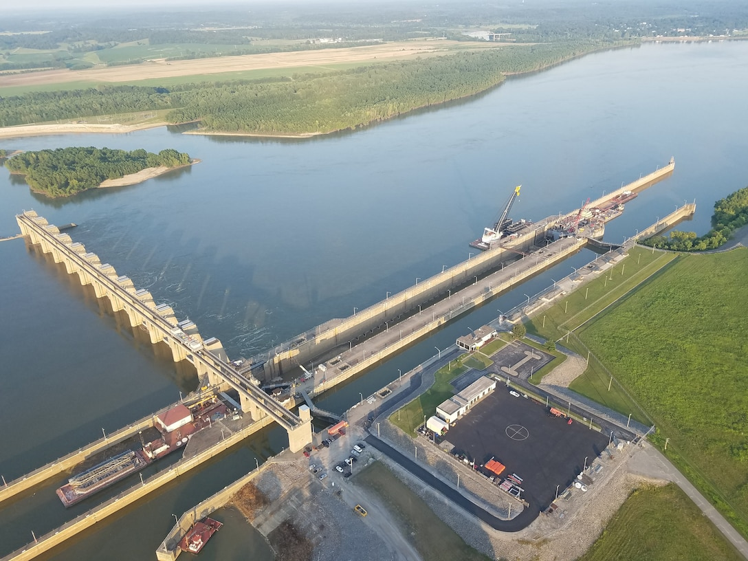 Smithland Lock and Dam aerial