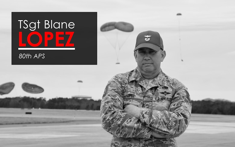 This week's Up Close features Tech. Sgt. Blane Lopez, an air cargo technician with the 80th Aerial Port Squadron.