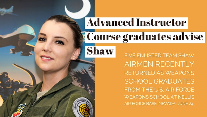 Advanced Instructor Course graduates enhance Shaw mission
