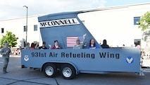 Airmen from Team McConnell participated in the Sundown Parade to help kick off Wichita's 2019 Riverfest celebration, May 31, 2019, Wichita, Kan.